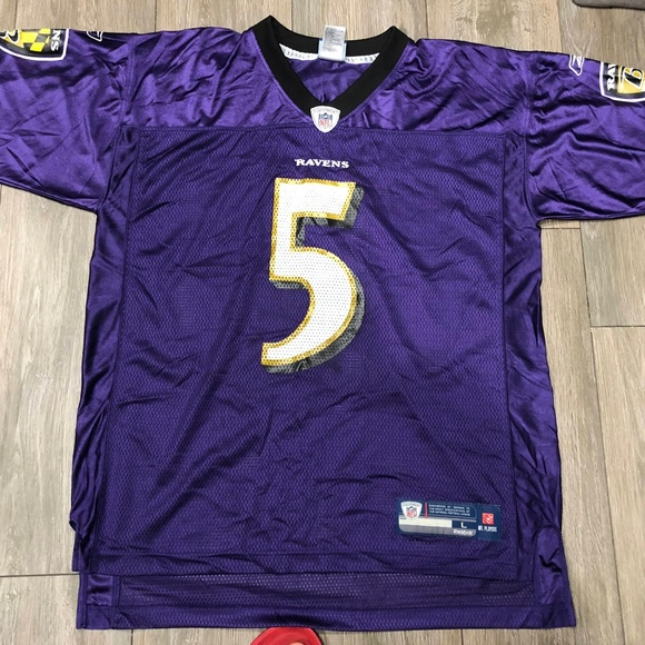 Reebok Joe Flacco #5 Baltimore Ravens Jersey